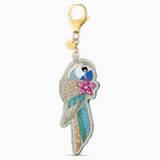 Tropical Parrot Подвеска на сумку, Мультицветный темный Кристалл, Покрытие оттенка золота - Swarovski, 5520615