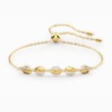 Shell-armband kauri, Wit, Goudkleurige toplaag - Swarovski, 5520655