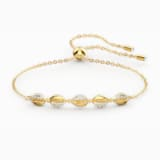 Shell Cowrie Bileklik, Beyaz, Altın rengi kaplama - Swarovski, 5520655