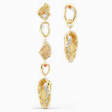 Shell Angel Pierced Earrings, Light multi-colored, Gold-tone plated - Swarovski, 5520664