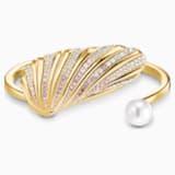Shell 阔手镯, 浅色渐变, 镀金色调 - Swarovski, 5520665