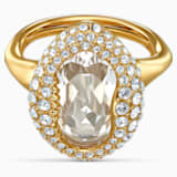 Shell Ring, White, Gold-tone plated - Swarovski, 5520666