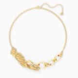 Shell Halskette, mehrfarbig hell, vergoldet - Swarovski, 5520667
