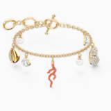 Shell Coral karkötő, piros, arany árnyalatú bevonattal - Swarovski, 5520673