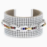 Spectacular Cuff, Dark multi-colored, Mixed metal finish - Swarovski, 5521027