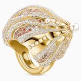 Sculptured Shells Ring, Light multi-colored, Mixed metal finish - Swarovski, 5521036