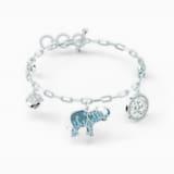 Swarovski Symbolic Elephant 手鏈, 淺色漸變, 鍍白金色 - Swarovski, 5521444