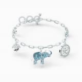 Swarovski Symbolic Elephant Bracelet, Light multi-colored, Rhodium plated - Swarovski, 5521444