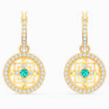 Swarovski Symbolic Mandala Hoop Pierced Earrings, Green, Gold-tone plated - Swarovski, 5521446