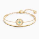 Bransoletka typu bangle z symbolem mandali z kolekcji Swarovski Symbolic, zielona, powłoka w odcieniu złota - Swarovski, 5521493