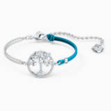 Swarovski Symbolic Tree of Life Bracelet, Blue, Rhodium plated - Swarovski, 5521494