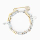So Cool Chain Bileklik, Beyaz, Karışık metal bitiş - Swarovski, 5521686