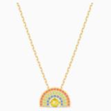 Swarovski Sparkling Dance Rainbow Necklace, Light multi-colored, Gold-tone plated - Swarovski, 5521756