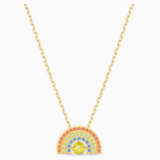 Swarovski Sparkling Dance Rainbow Колье, Мультицветный светлый Кристалл, Покрытие оттенка золота - Swarovski, 5521756