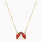 Swarovski Sparkling Dance Ladybug Halskette, rot, vergoldet - Swarovski, 5521787