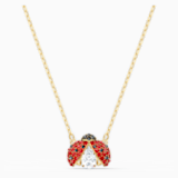 Naszyjnik Swarovski Sparkling Dance Ladybug, czerwony, pozłacany - Swarovski, 5521787
