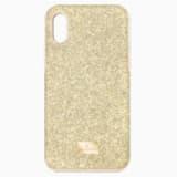 High Smartphone Case with Bumper, iPhone® X/XS, Gold tone - Swarovski, 5522086