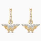 Fit Wonder Woman Hoop Pierced Earrings, Gold tone, Mixed metal finish - Swarovski, 5522301