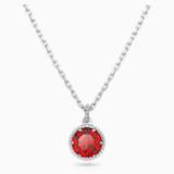 Birthstone medál, piros, ródium bevonattal - Swarovski, 5522772