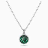 Születési hónapra utaló medál, zöld, ródium bevonattal - Swarovski, 5522776