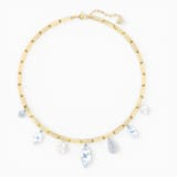 So Cool Charm Necklace, White, Mixed metal finish - Swarovski, 5522860