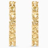 Vittore Hoop Pierced Earrings, Gold tone, Gold-tone plated - Swarovski, 5522880