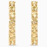 Vittore 穿孔耳環, 金色, 鍍金色色調 - Swarovski, 5522880