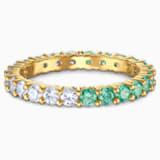 Vittore Half 戒指, 绿色, 镀金色调 - Swarovski, 5522882