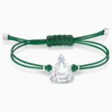Swarovski Power-kollekció Buddha karkötő, zöld, nemesacél - Swarovski, 5523173