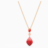 Fun 链坠, 红色, 镀金色调 - Swarovski, 5524053