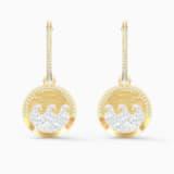 Shine Wave bedugós fülbevaló, világos, többszínű, arany árnyalatú bevonattal - Swarovski, 5524202