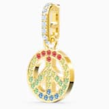 Swarovski Remix Collection Peace Charm, mehrfarbig hell, vergoldet - Swarovski, 5526998