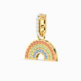 Swarovski Remix kollekció Rainbow charm, világos, többszínű, arany árnyalatú bevonattal - Swarovski, 5527005