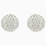 Blow Pierced Earrings, Gray, Mixed metal finish - Swarovski, 5528455