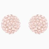 Blow Pierced Earrings, Pink, Rose-gold tone plated - Swarovski, 5528456
