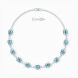 Sparkling 項鏈, 海藍色, 鍍銠 - Swarovski, 5528875