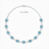 Třpytivý náhrdelník, akvamarínový, rhodiovaný - Swarovski, 5528875