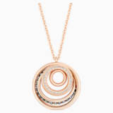 Dynamic Pendant, Black, Rose-gold tone plated - Swarovski, 5529579