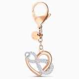 Accesorio para bolso Infinite, blanco, baño tono oro rosa - Swarovski, 5530885