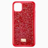 Pouzdro na chytrý telefon Glam Rock, iPhone® 11 Pro Max, červené - Swarovski, 5531143