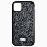 Glam Rock okostelefon tok, iPhone® 11 Pro Max, fekete - Swarovski, 5531153