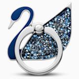 Swan 手機指環, 藍色, 不銹鋼 - Swarovski, 5531511