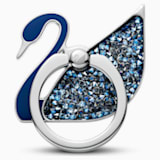 Swan 링 스티커, 블루, 스테인리스 스틸 - Swarovski, 5531511