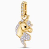 Charm Out of this World Unicorn, lilla, Placcato oro - Swarovski, 5531527