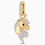 Charm Out of this World Unicorn, lila, Baño en tono Oro - Swarovski, 5531527