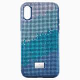 Etui na smartfona Crystalgram z ramką chroniącą przed uderzeniem, iPhone® X/XS, niebieskie - Swarovski, 5532209