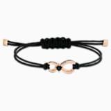 Βραχιόλι Swarovski Infinity, μαύρο, επιχρυσωμένο με ροζ χρυσό - Swarovski, 5533721