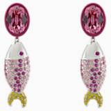 Vpichovaci nausnice se zelvou Mustique Sea Life, růžové, s palladiovým povrchem - Swarovski, 5533745