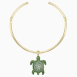 Gargantilla Mustique Sea Life Turtle, verde, baño tono oro - Swarovski, 5533764