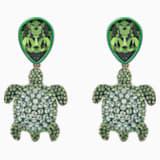 Orecchini Mustique Sea Life Turtle, verde, placcato color oro - Swarovski, 5533766